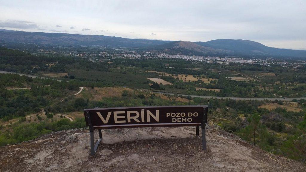 O achado está na zona coñecida como o Pozo do Demo, desde o que se divisa todo o val de Monterrei