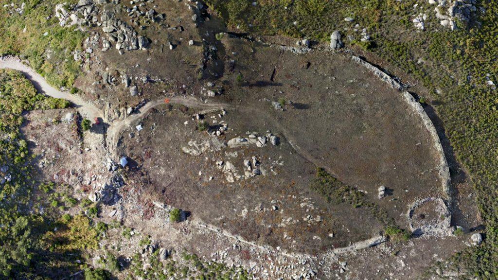Imaxe aérea do xacemento