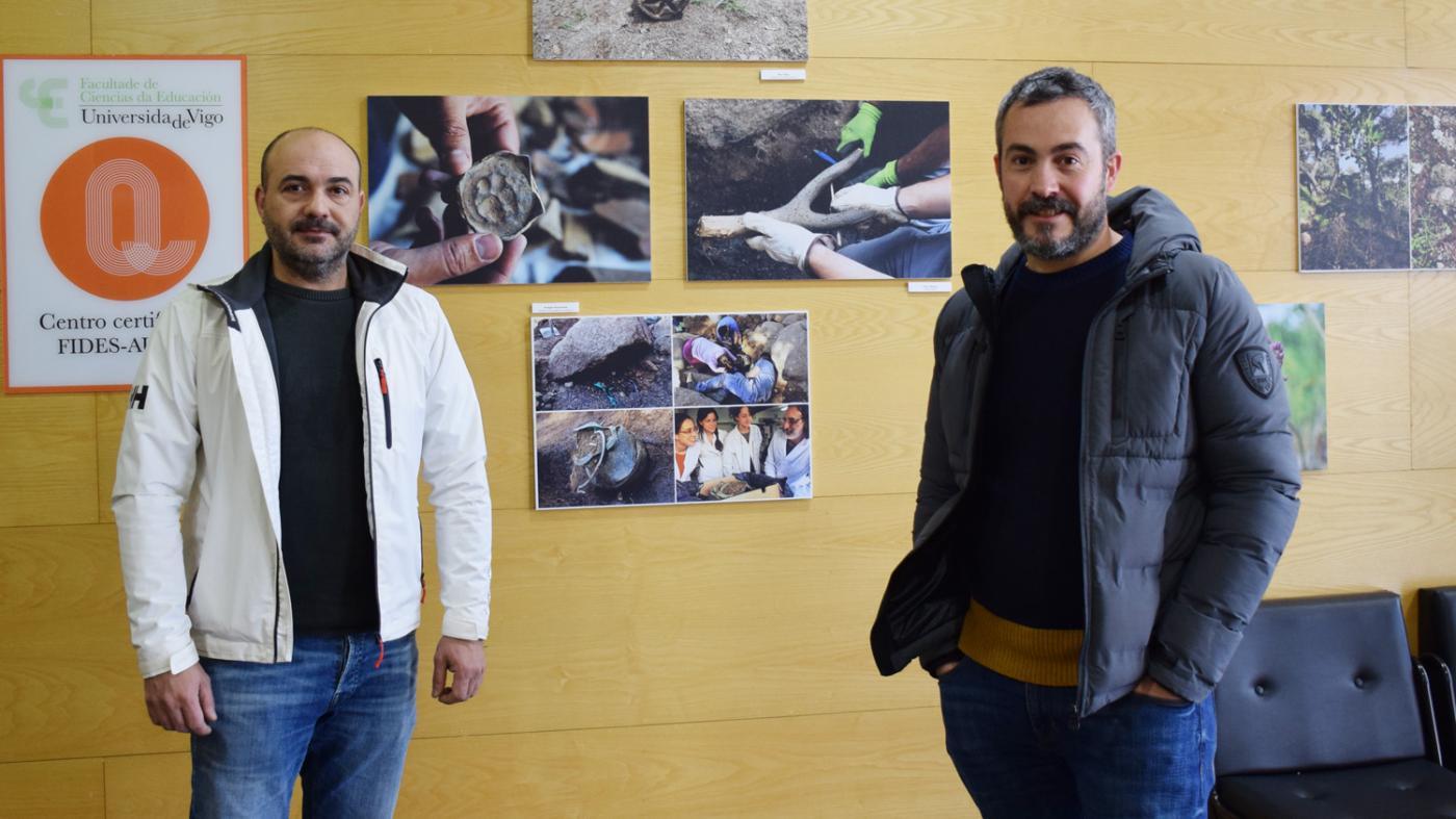 Gonzalo Buceta e Eduardo Breogán Nieto, restaurador e director da intervención respectivamente